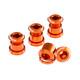 Reverse Chainring bolts orange